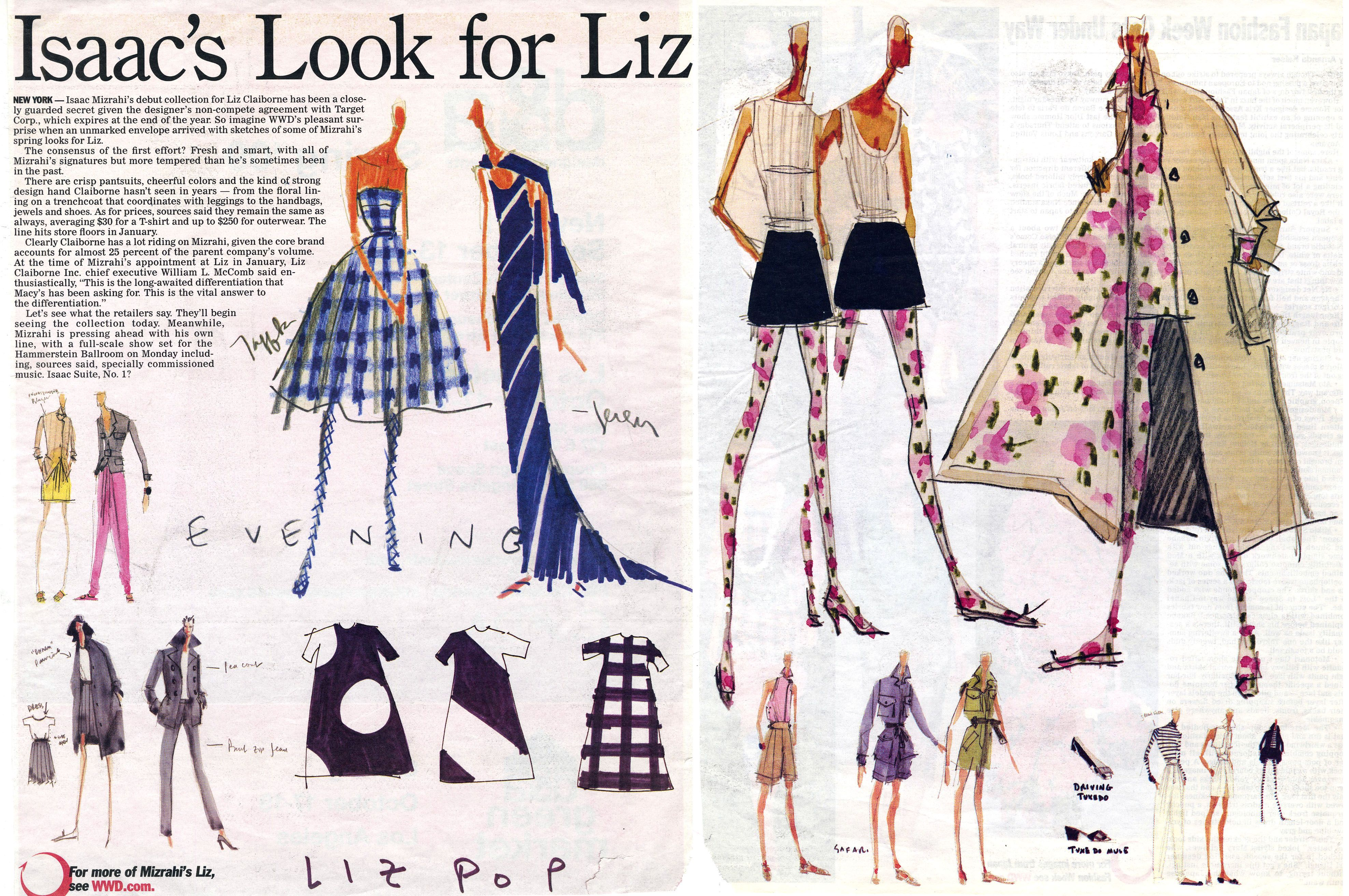 2959ff3c359e Isaac Mizrahi Fashion Sketchbook, Fashion Sketches, Fashion Illustrations,  Fashion Line, Fashion Basics