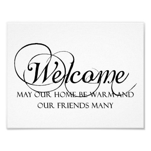 Welcome to our home quote poster | Home Decor | Pinterest