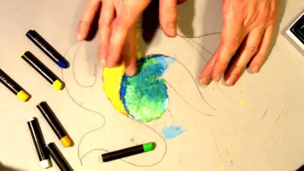 Create More Dynamic Artwork With Your Oil Pastels Using The Rule Of 3's  Watch How