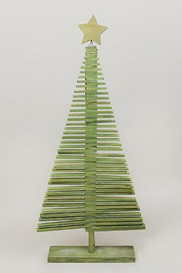 Wood Christmas Tree Green 37in