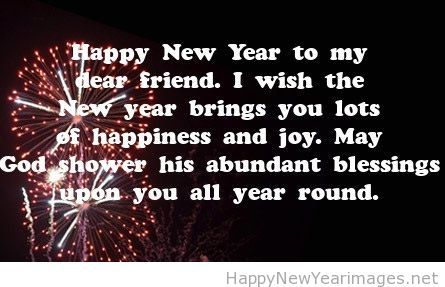 happy new year dear friend saying
