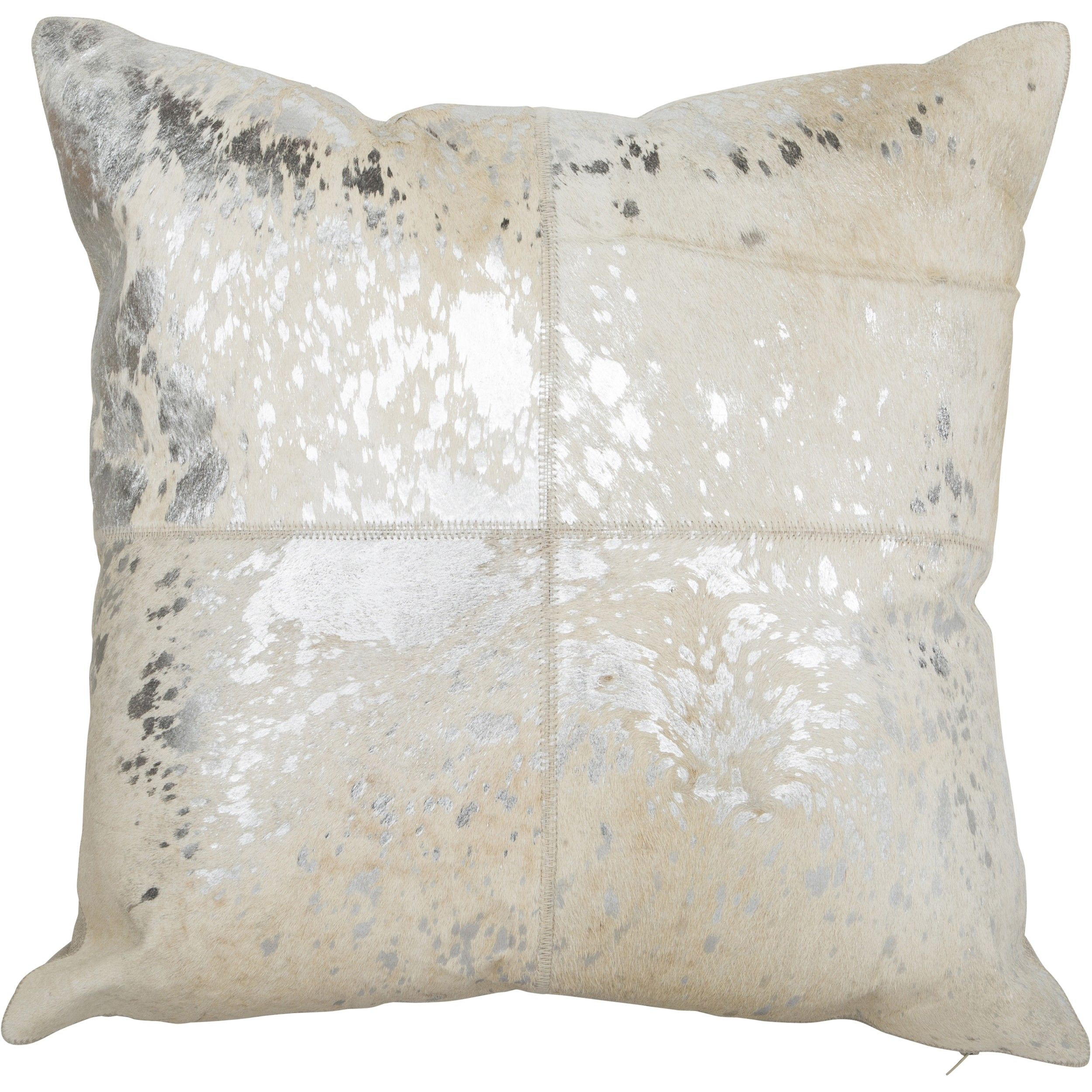 canaan silver hair on hide pillow