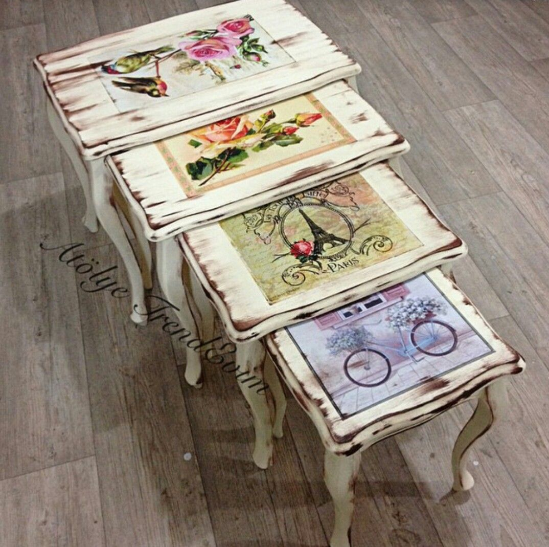 Pin By Nurten Deliba On Dekupaj Sehpa Pinterest Decoupage Paint Furniture And Shabby