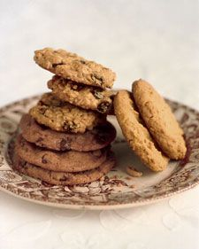 Alexis Stewart developed this chocolate-chip-cookie recipe for her mother, Martha, when she was 12 years old. Unlike traditional, moist chewy cookies, this recipe produces very flat and crisp chocolate chip cookies. Use an ice-cream scoop to ensure even baking and a uniform size. They will spread a great deal on the pan while baking. If cookies harden before you have a chance to remove them from the baking sheet, return the sheet to the oven for a few seconds to soften the dough for easier…
