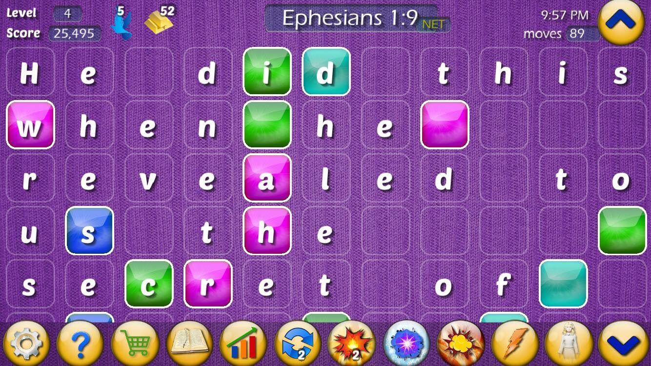 Play the Bible game screenshot of Ephesians 19. Bible