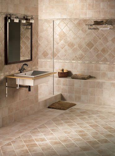 Baldosa de pared de cer mica de ba o aspecto piedra for Ceramica para banos modernos