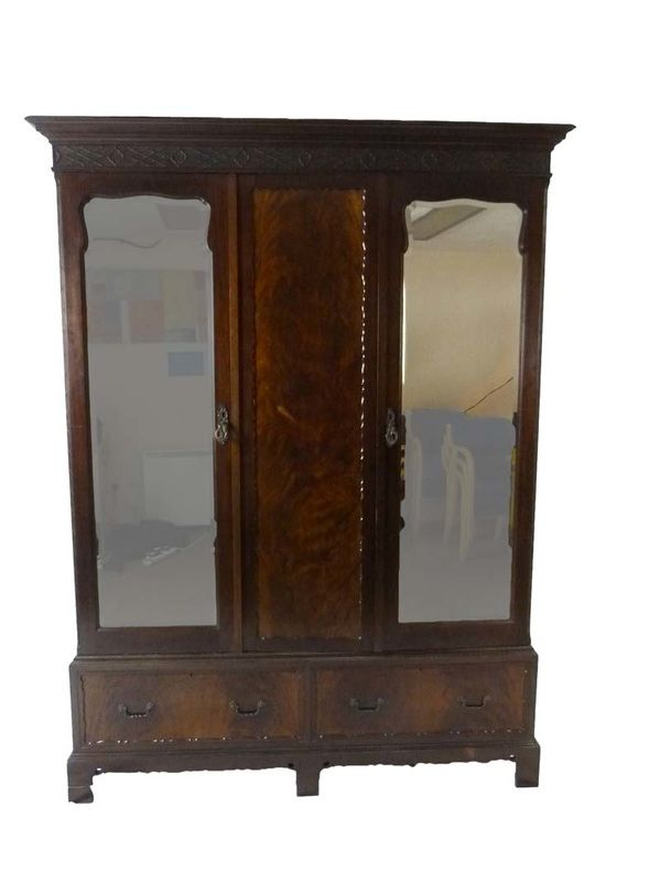 Chippendale style mahogany triple wardrobe is made by Maple & Co, circa 1910. A Timeless Classic at www.resourcevintage.co.uk