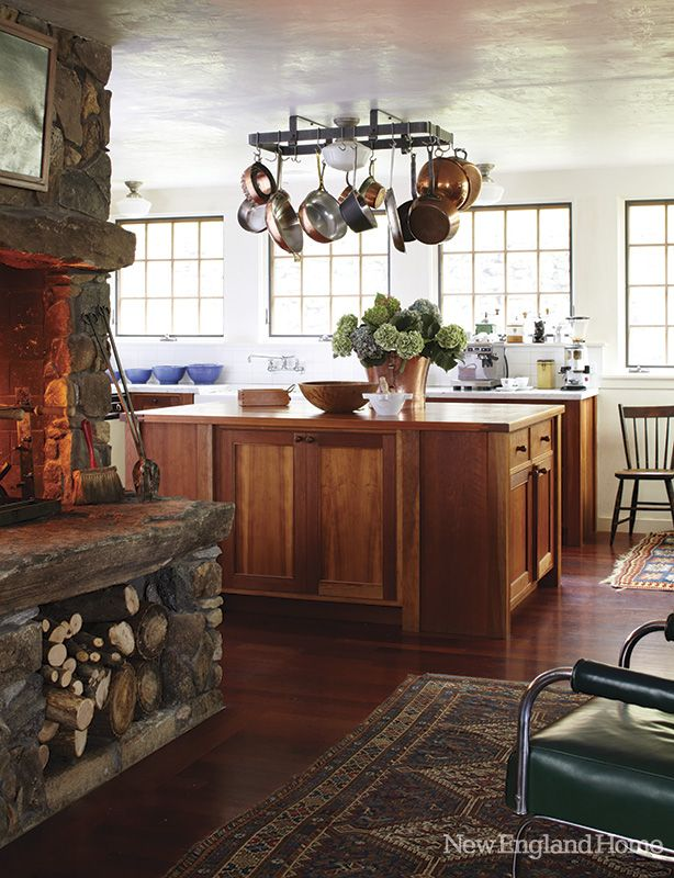 A Raised Hearth Warms This Litchfield County Conn Kitchen Photo By Laura Moss Favorite