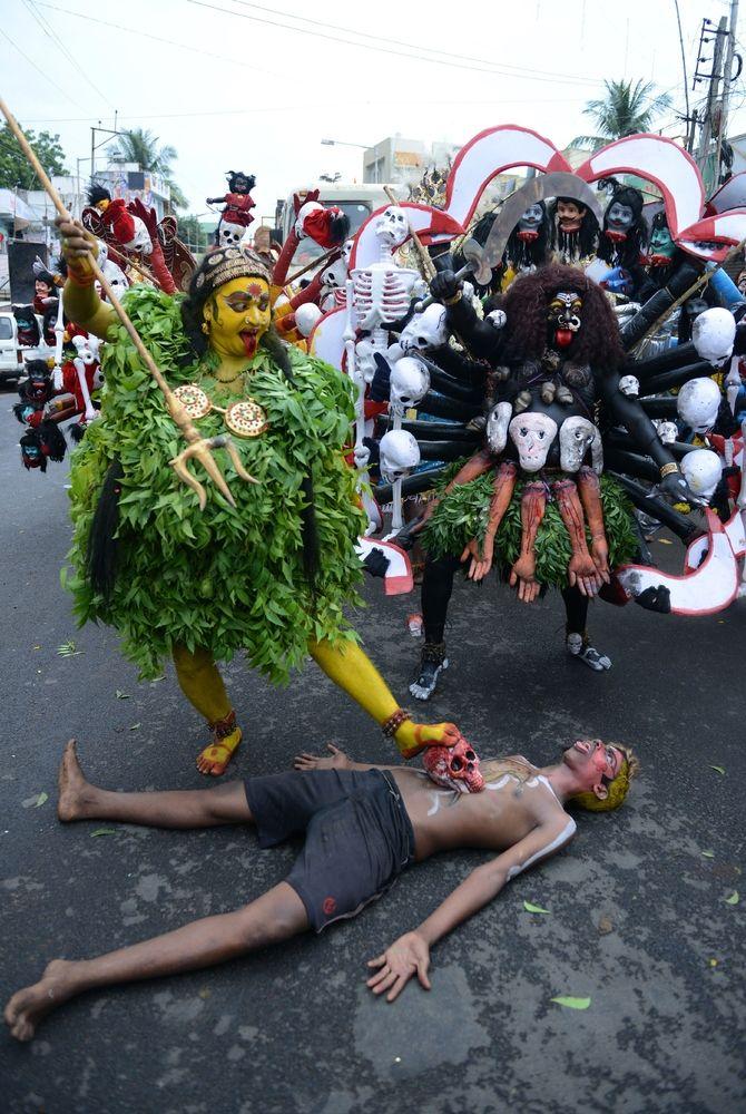 Bonalu is an elevenday Hindu festival of the Telangana