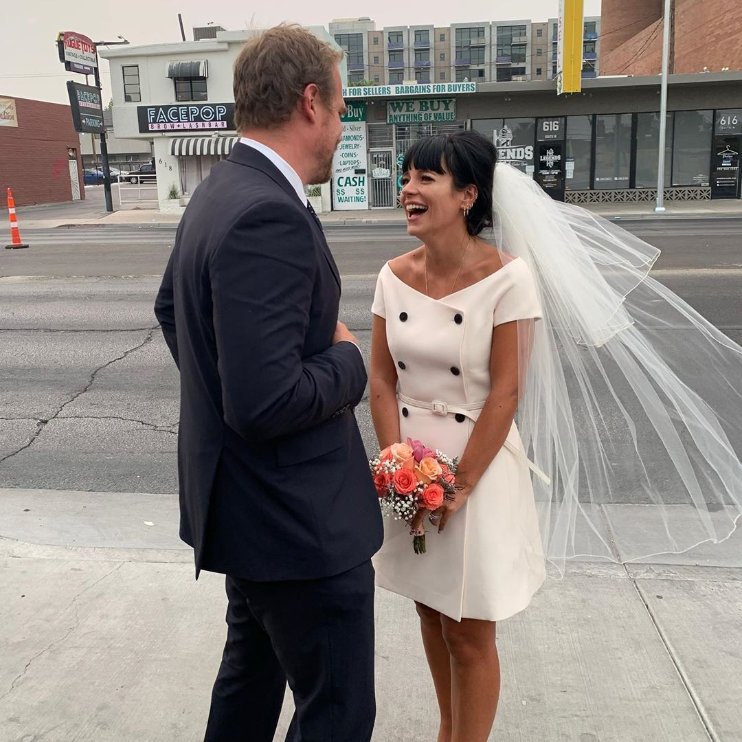 David Harbour and Lily Allen are officially husband and