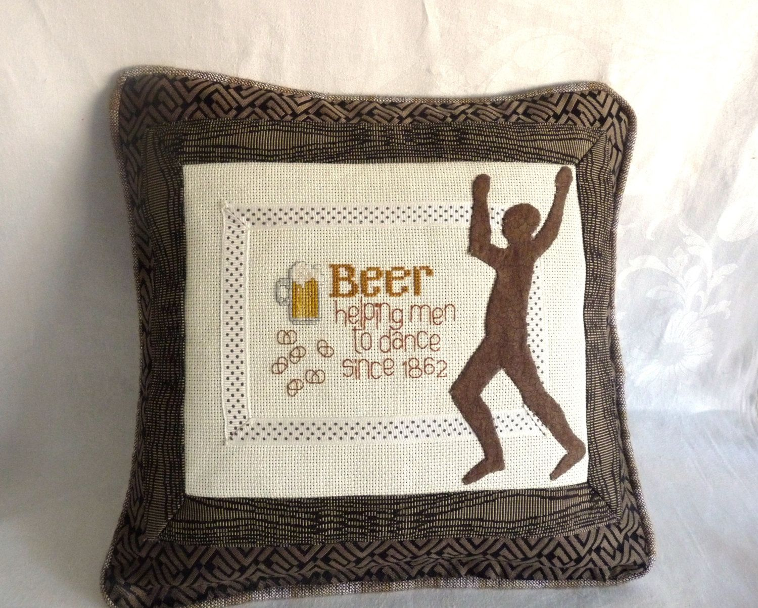 Dancing Man Pillow by L7wisconsin on Etsy https://www.etsy.com/listing/170950814/dancing-man-pillow