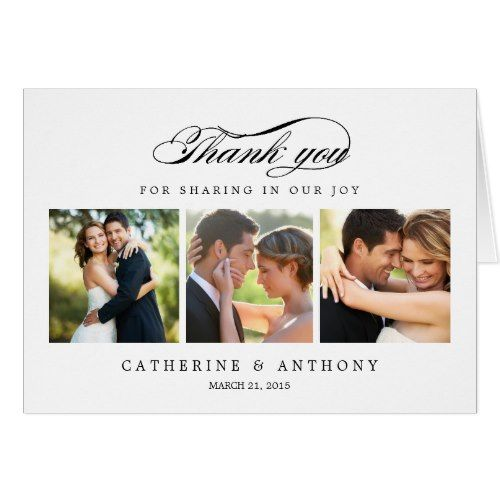 Elengant Wedding Thank You Cards Simply Elegant Card