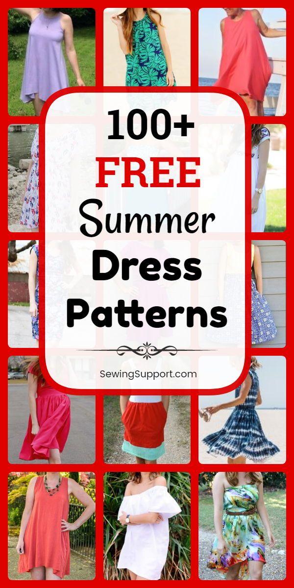 100+ Free Summer Dress Patterns for Women