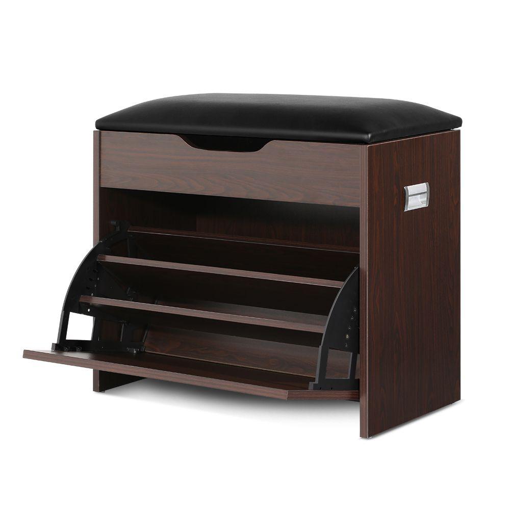 Artiss 12 Pairs Shoe Cabinet Organiser Wooden Storage Bench Stool Wooden Storage Bench Wooden Storage Storage Bench