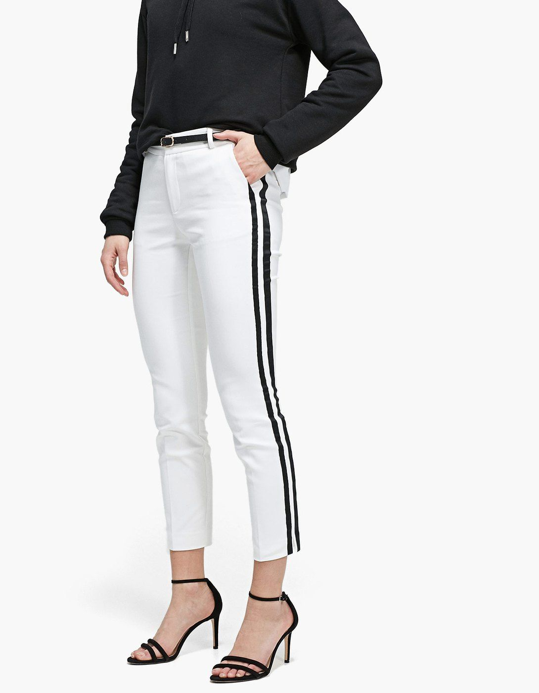 At Stradivarius you ll find 1 Pantalón vestir con cinturón banda lateral  for just 399 Mexico . Visit now to discover this and more Nuevo. a2558f67b06c