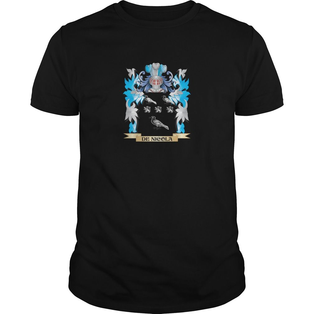 De-Nicola Coat of Arms - Family Crest - Perfect for De-Nicola family reunions or those proud of their family De-Nicola heritage.  Thank you for visiting my page. Please share with others who would enjoy this shirt. (Related terms: De-Nicola,De-Nicola coat of arms,Coat or Arms,Family Crest,Tartan,De-Nicola...)