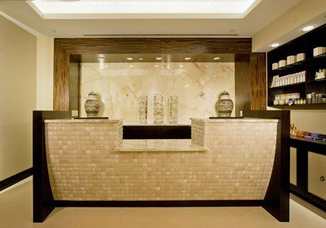 Trump SoHo Spa Reception Desk. | Metamorphosis — Organic Day Spa ...
