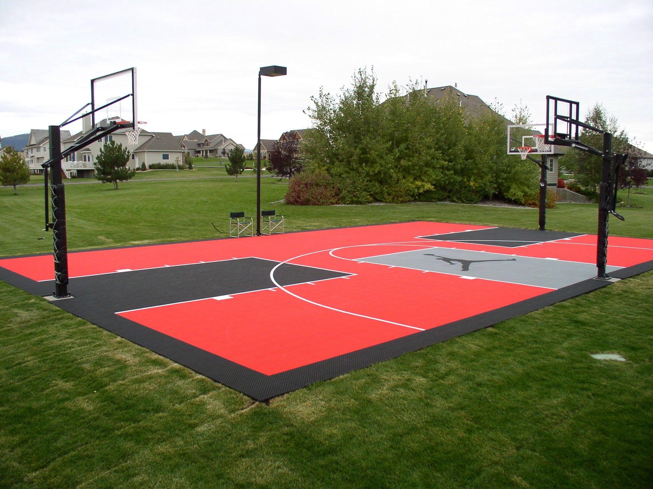 Pin by Vador on Basketball | Basketball court backyard ...