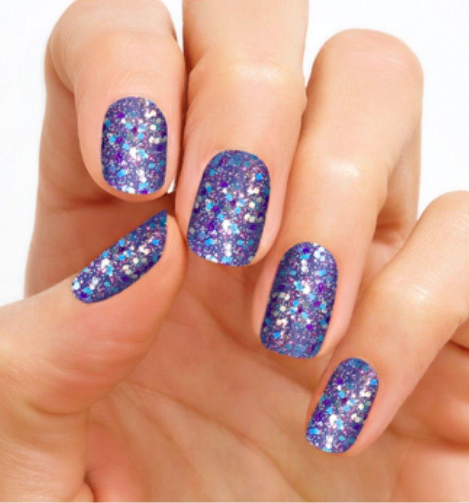 Mardi Gras inspired Nail glitter.