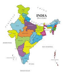 india map with states and capitals hd image