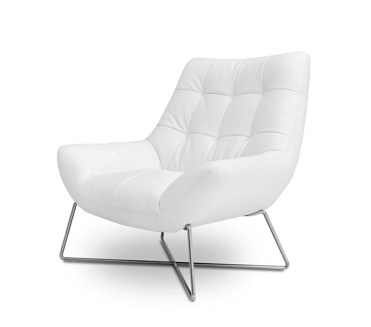 . Divani Casa Istra   Modern White Occasional Chair   Products