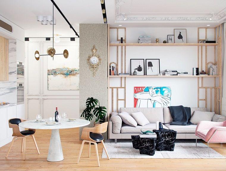 Arredamento moderno, un open space arredato con mobili moderni, sala ...