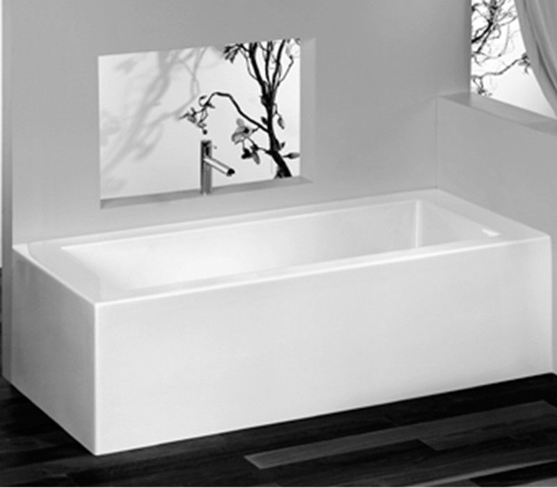 Corner Tub with Skirt on Backrest Side | bathroom design | Pinterest ...
