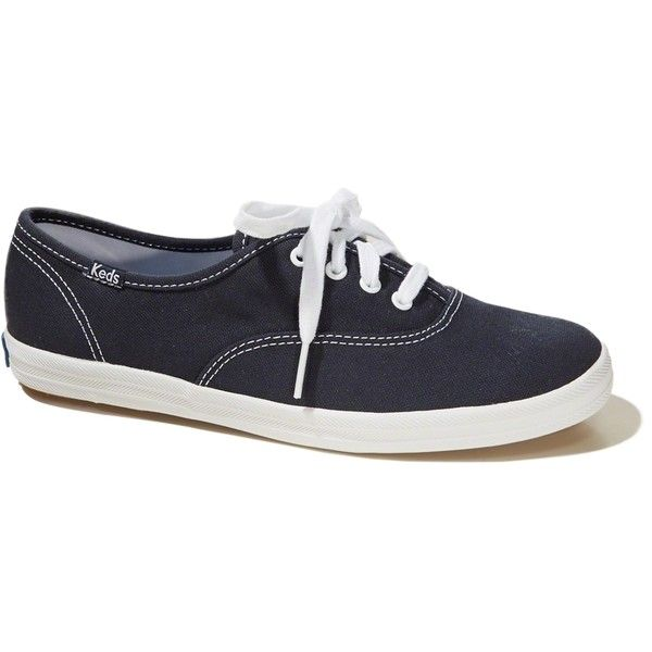 Hollister Keds Champion Original Sneaker (254700 PYG) ❤ liked on Polyvore featuring shoes, sneakers, navy, navy blue sneakers, navy blue shoes, flexible shoes, navy shoes and navy sneakers
