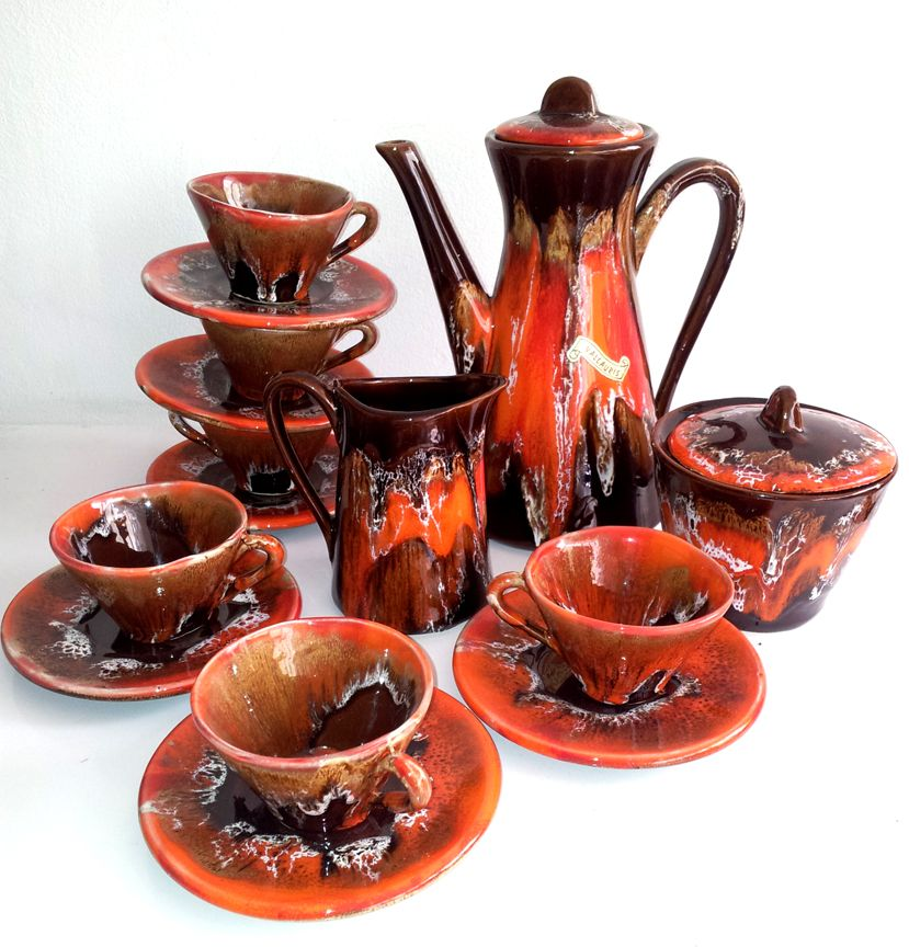 1960s Coffee Set by Picasso Studio, Vallauris.