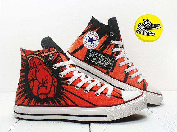 Metallica Stanger Custom Painted Converse Rock Style