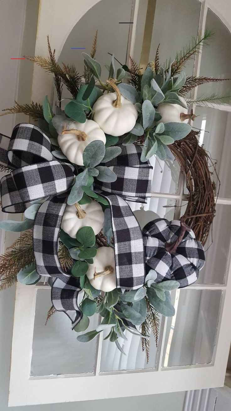 Fall Farmhouse wreath, farmhouse door wreath,white pumpkin