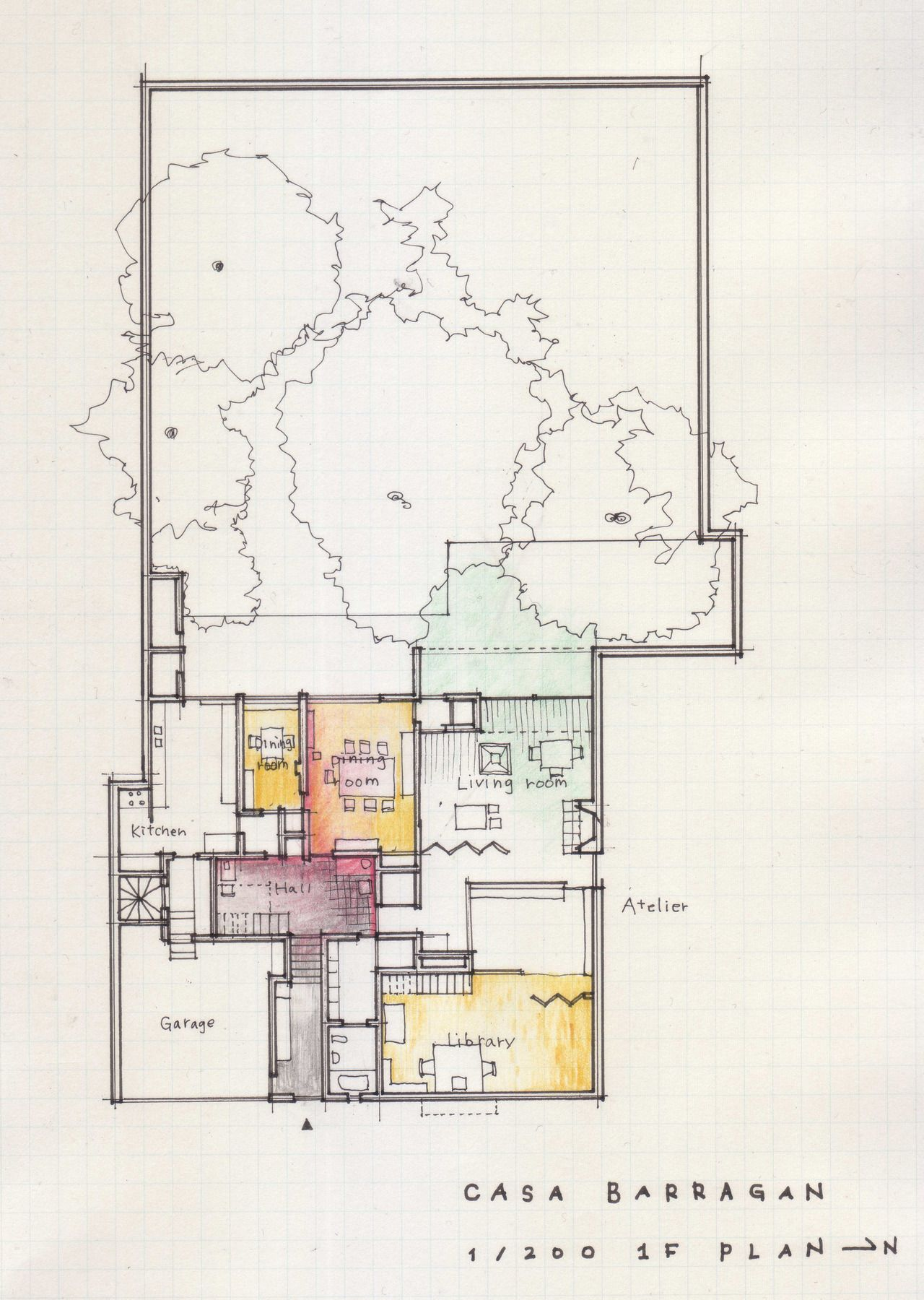 A Floor Plan A Day Keeps The Doctor Away Luis Barragan Casa Barragan 1948 Taubaya Luis Barragan House Urban Design Architecture Architecture Plan