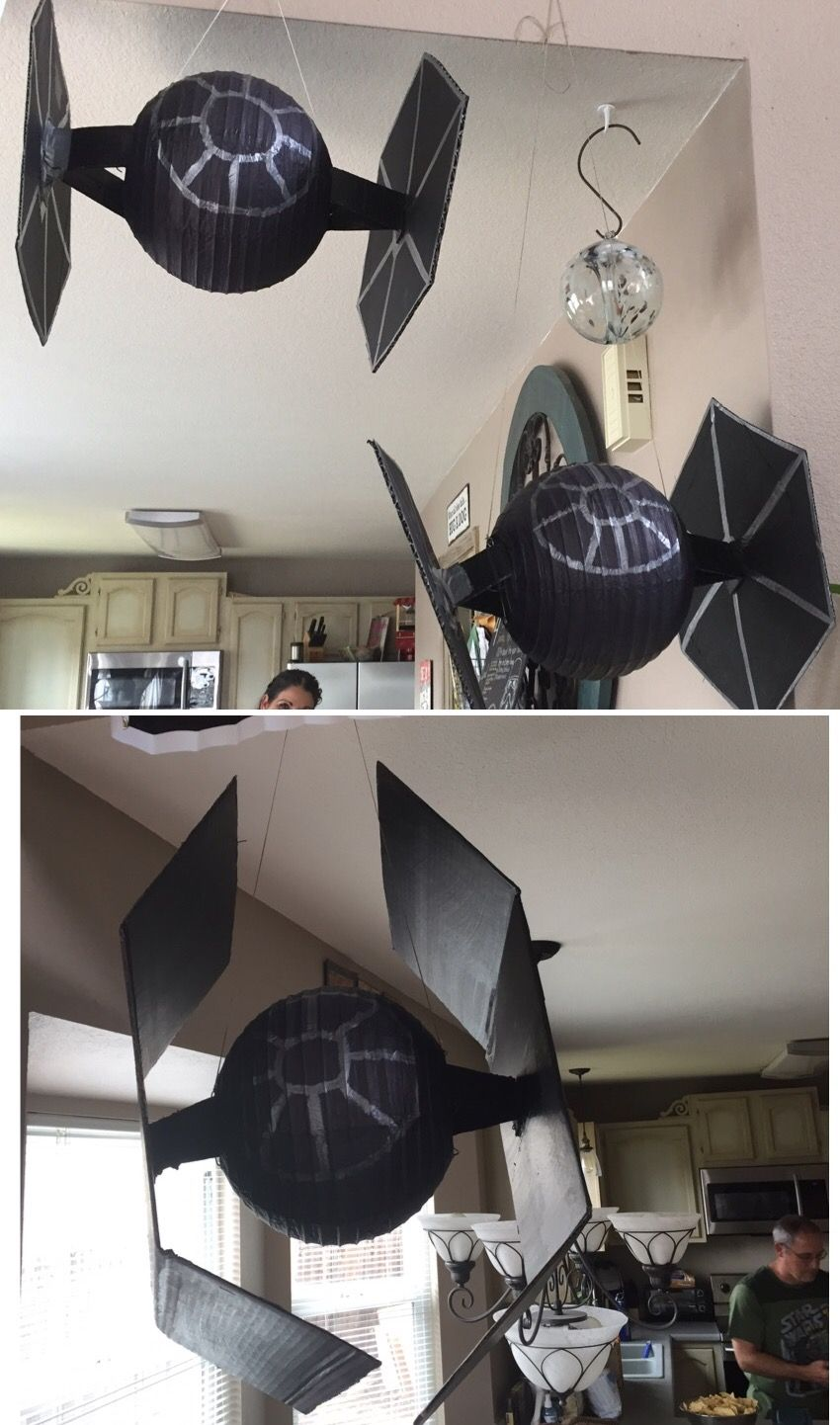 Paper Lantern Tie Fighter Decorations Stars Wars Party Decorations
