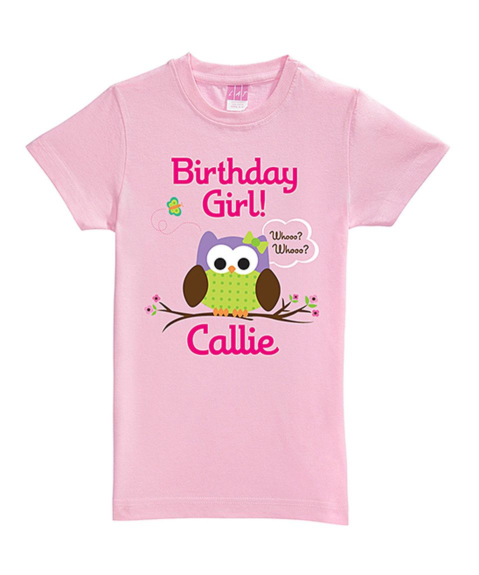 Loving this Personalized Planet Pink 'Birthday Girl' Personalized Tee - Toddler & Girls on #zulily! #zulilyfinds