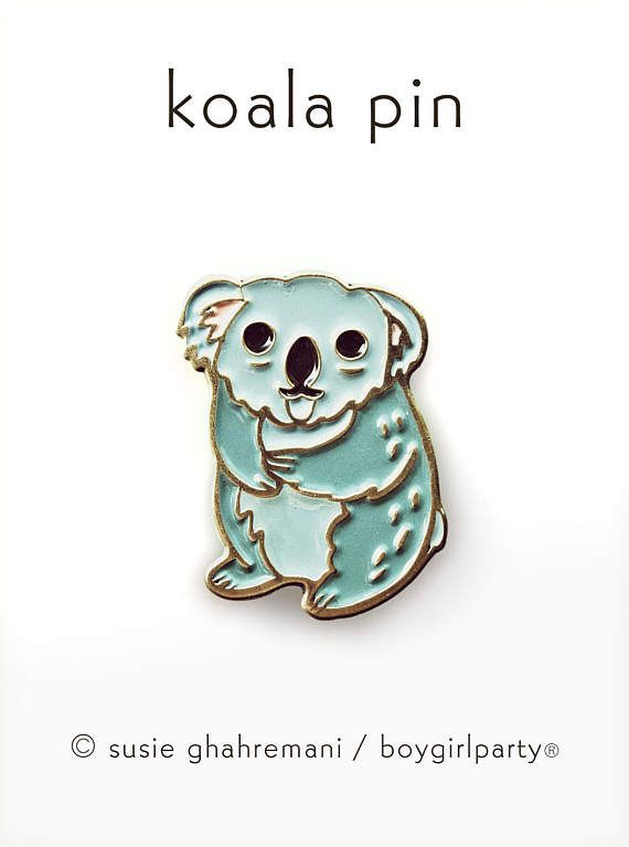 KOALA PIN Enamel Pin Cute Enamel Pin Kawaii Pin By Boygirlparty
