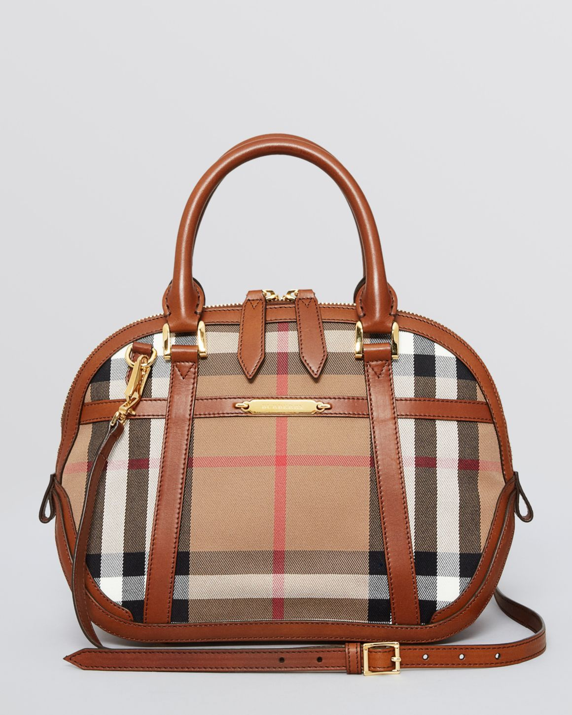 Burberry Satchel - Small House Check Sartorial Orchard | Bloomingdales's
