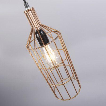 Lámpara colgante FRAME Luxe D cobre #interiorismo #decoracion #luz
