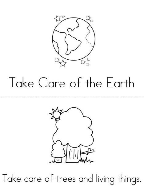 Take Care Of Our Earth Book From TwistyNoodle