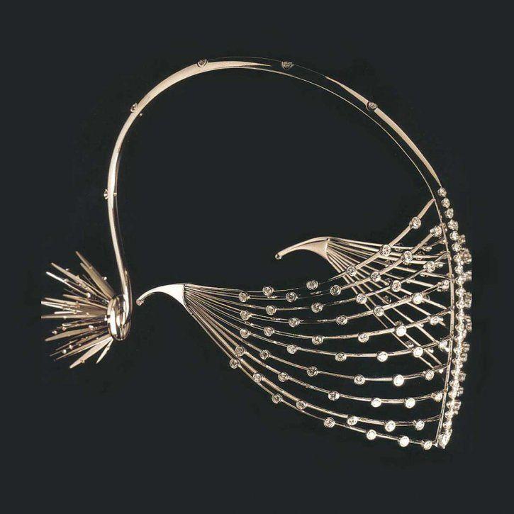 Mask by John Calleija, 18K White Gold w/ 219 diamonds