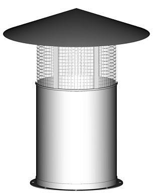 CZERP-C Czerpnia dachowa typu C / Czerpnie dachowe. Stosowany do zakończenia przewodów wentylacyjnych. Więcej produktów można znaleźć na stronie http://www.darco.com.pl/oferta/k,77,wentylacja.html