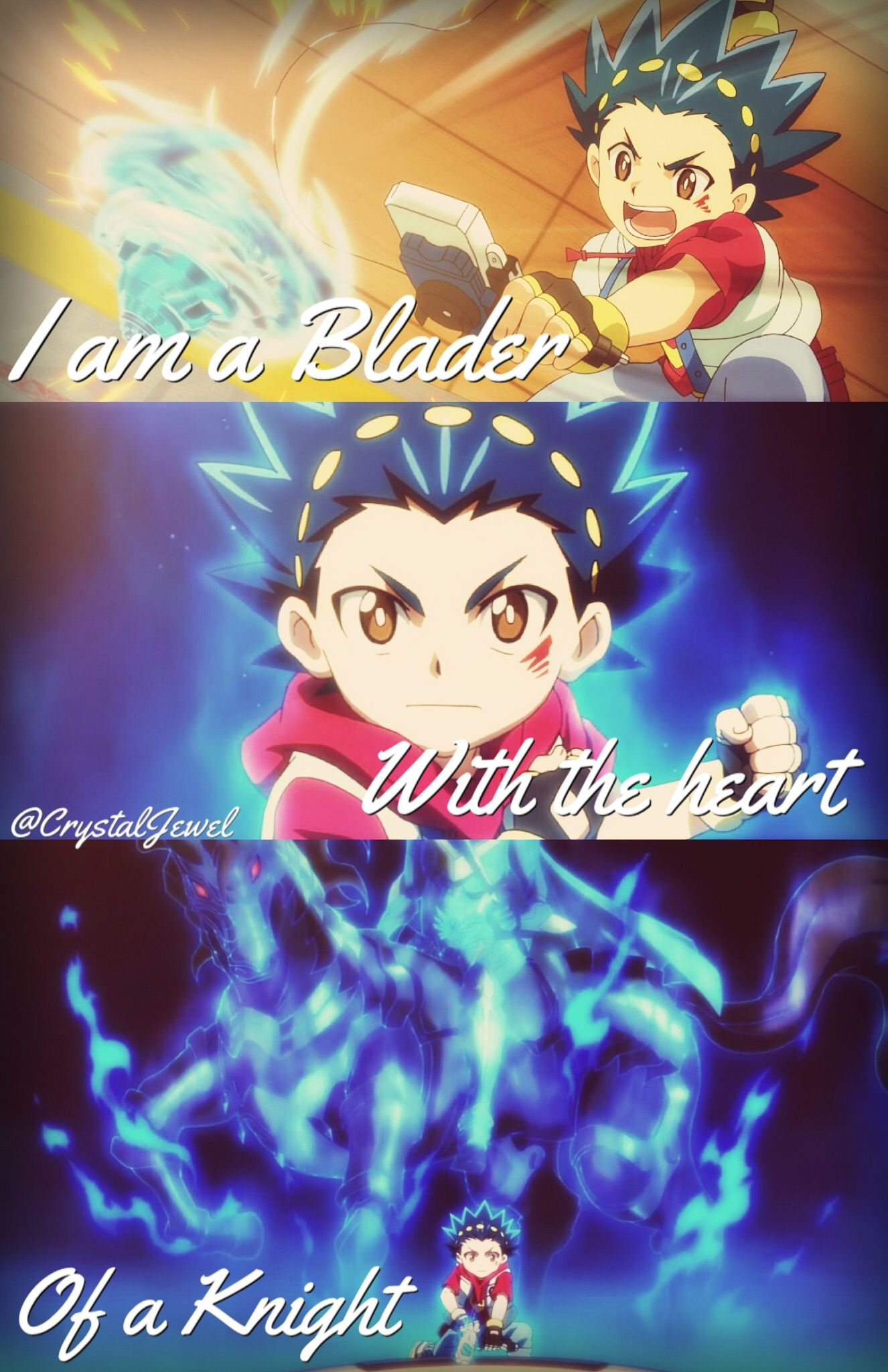 i am a blader with the heart of a knight valt aoi