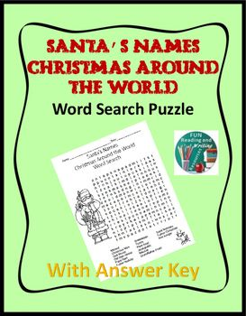 christmas around the world santa s names word search puzzle