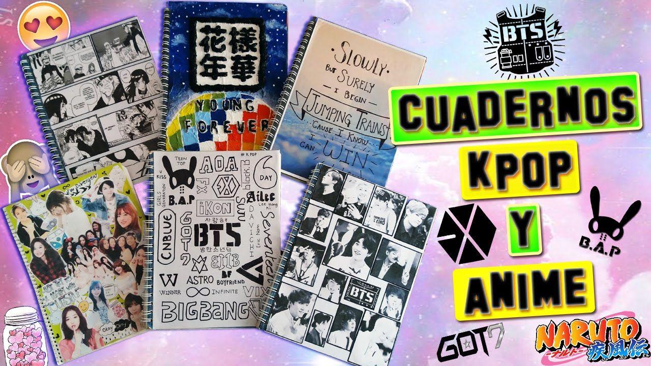 Decora tus cuadernos kpop y anime diy kpop