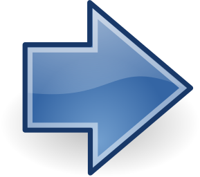 Arrow Gloss Blue Right Arrow Symbols Blue