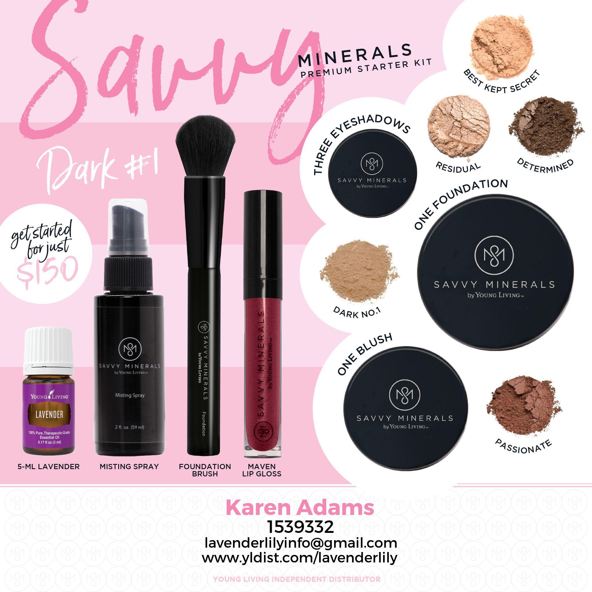 YLEO Savvy Minerals Premium Starter Kit for Dark 1 Skin
