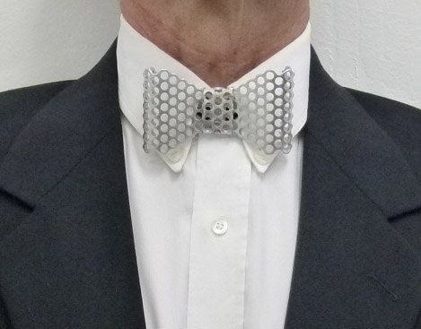 Metal Neck Bow Tie Aluminum Perforated 3 16 5 Mm Holes By Jjd85262 With Images Neck Bow Unique Bow Tie Tie