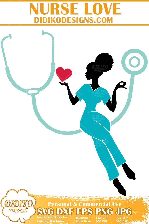 Black Nurse Svg 3 Afro Woman Nurse Svg Cricut File Didiko Designs Nurse Svg Nurse Life