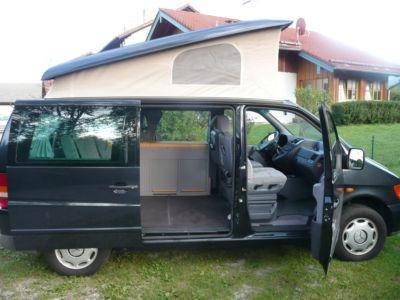 le vito mercedes les avantages du camping car avec l 39 accessibilit de la voiture motorhome. Black Bedroom Furniture Sets. Home Design Ideas