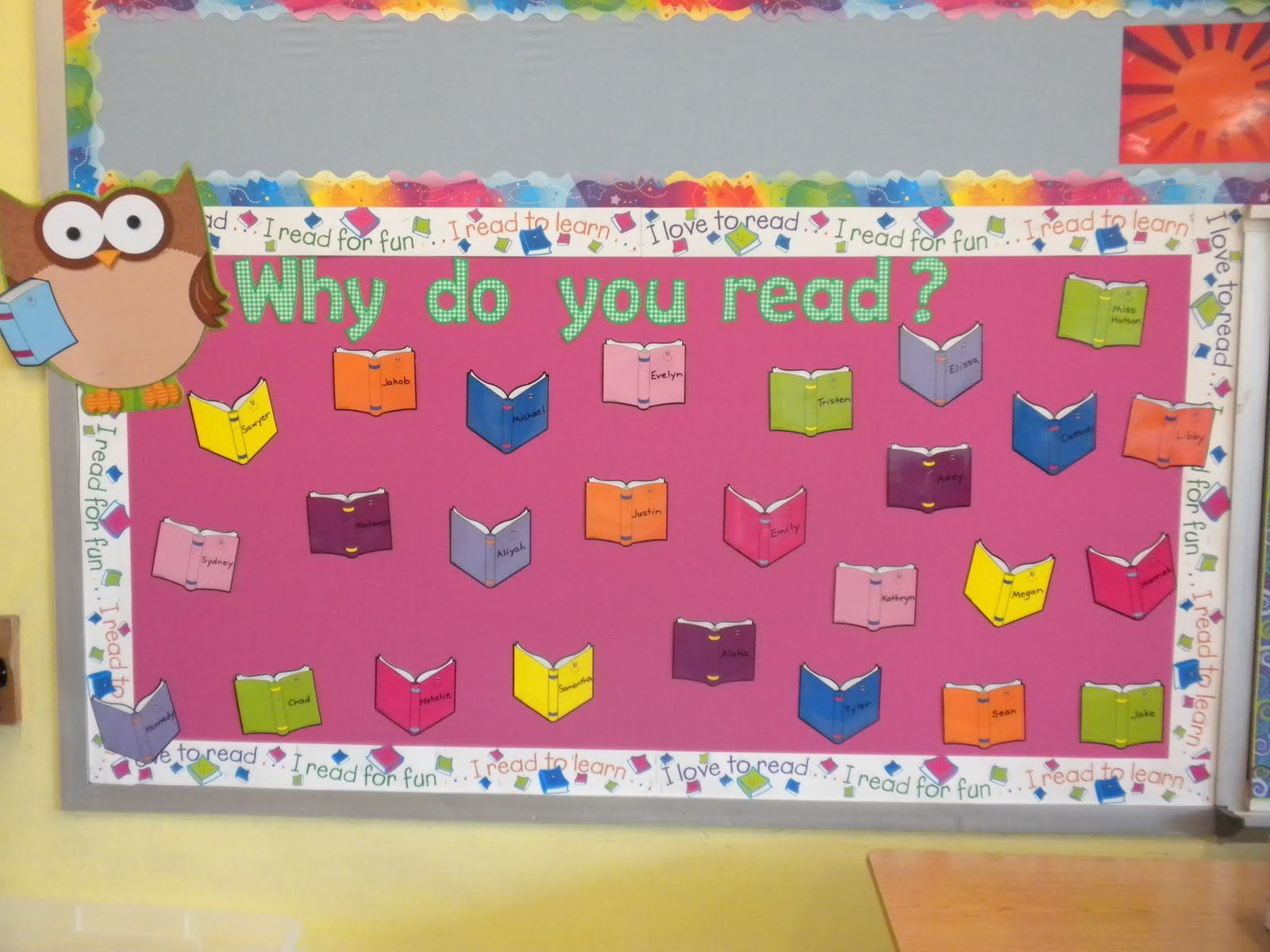 Classroom Literacy Ideas : Classroom bulletin board ideas why do you read from mrs
