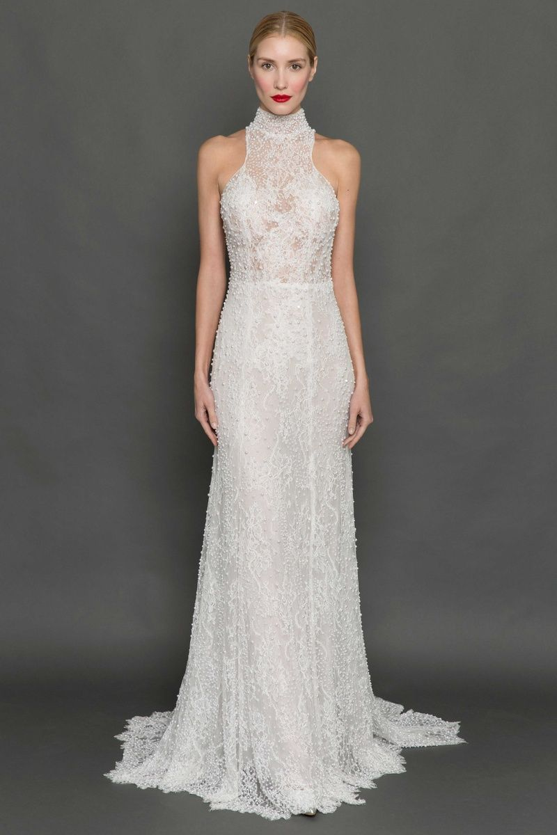 Wedding dress with collar  Dreamy Silhouettes from Francesca Miranda Fall   High collar